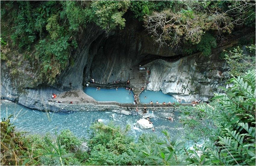 Wenshan Hot Springs Taroko before typhoon