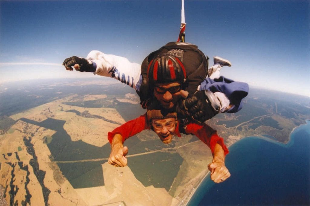 Skydiving Lake Taupo, New Zealand