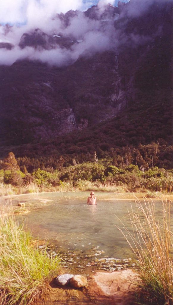 The Welcome Flat hot spring on the Copland Pass Crossing in New Zealand