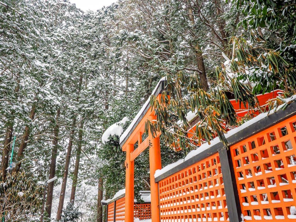 Benten-mae, a tiny shrine near Sainan In, Koyasan