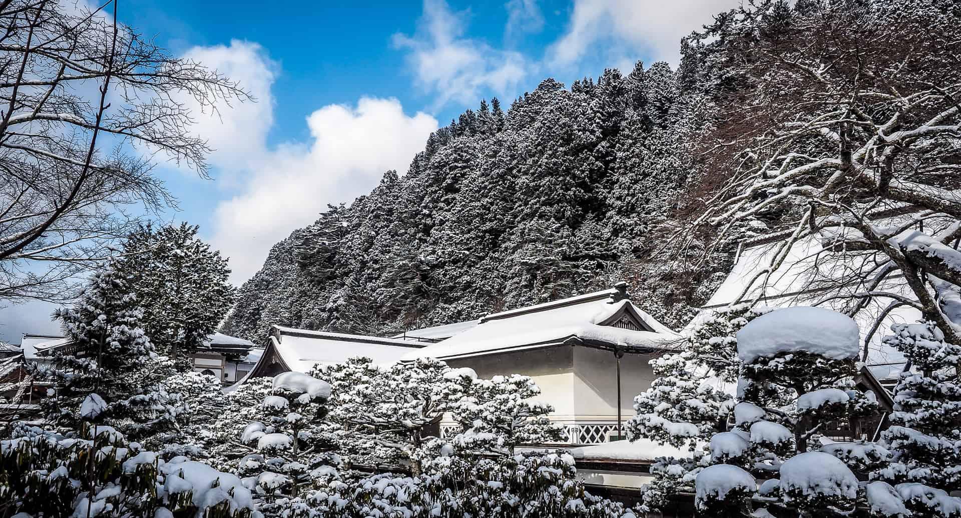 Staying at Eko In Koyasan in winter