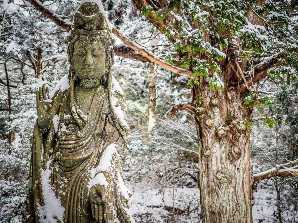 Kuanyin statue, Okunoin, Koyasan