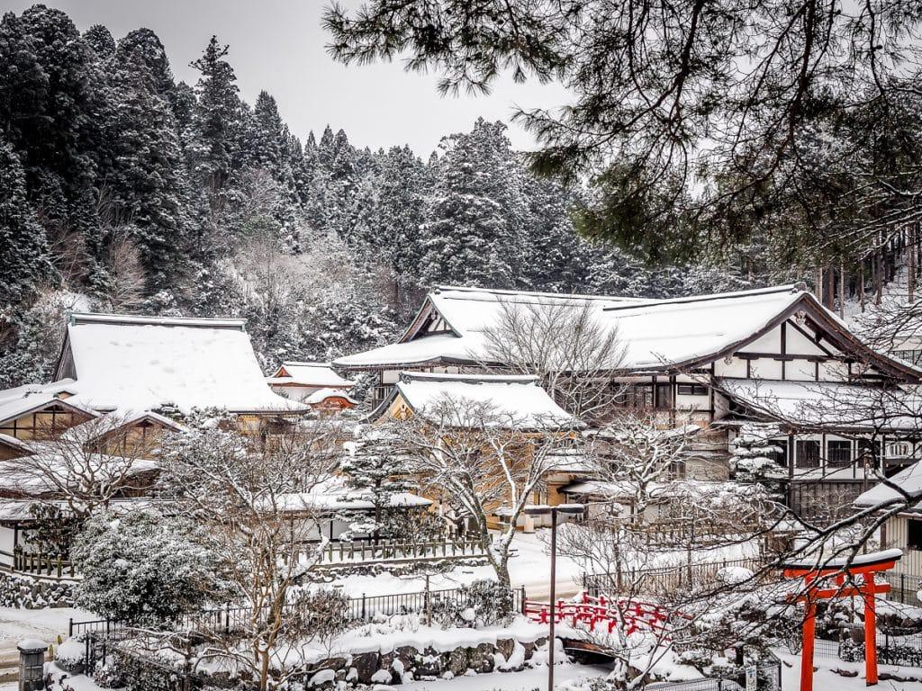 Sainan In, Koyasan in winter