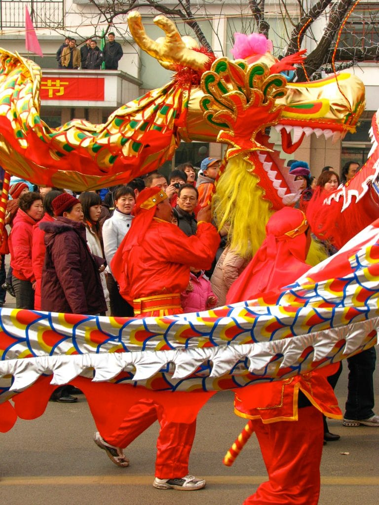 Celebrations in Tai'an, Shandong on Chinese New Year Day