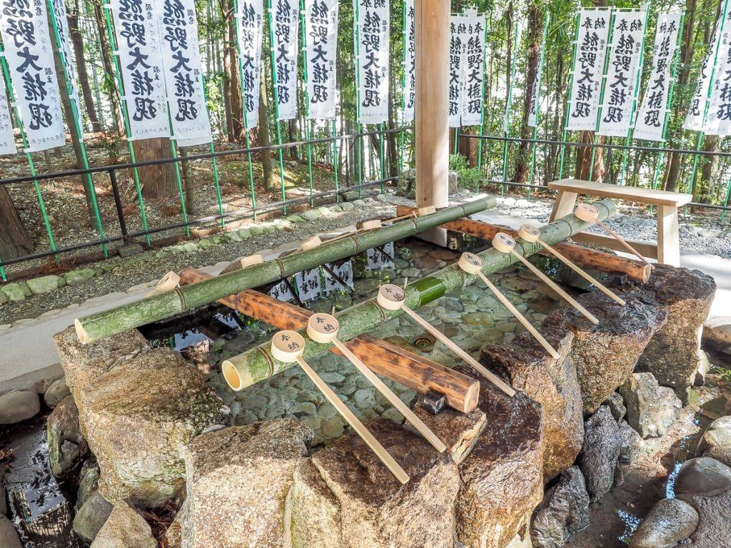 Water ablution pavilion at Kumano Hongu Taisha grand shrine