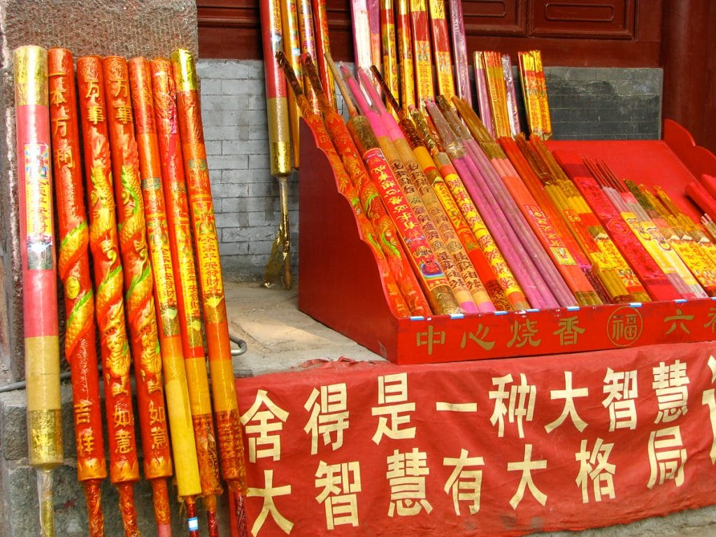 Incense for sale on Tai Shan