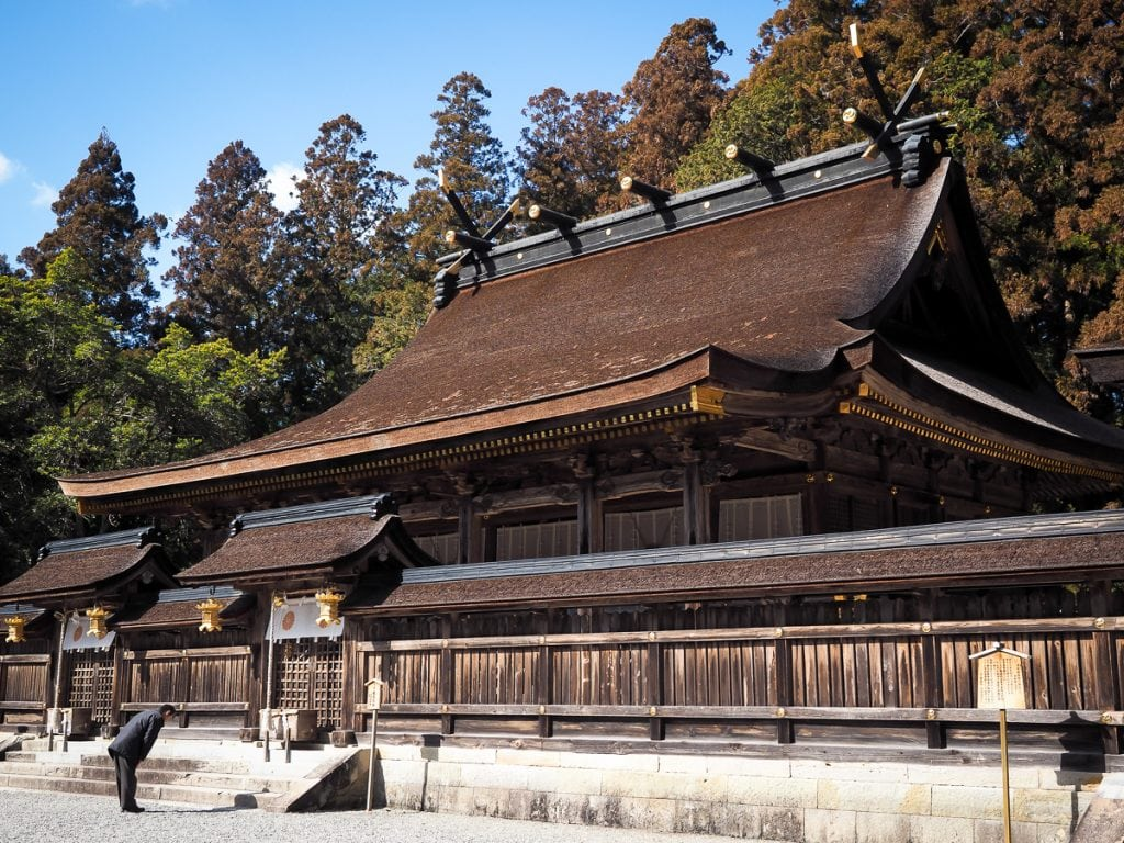 Kumano Hongu Taisha grand shrine on the Kumano Kodo pilgrimage