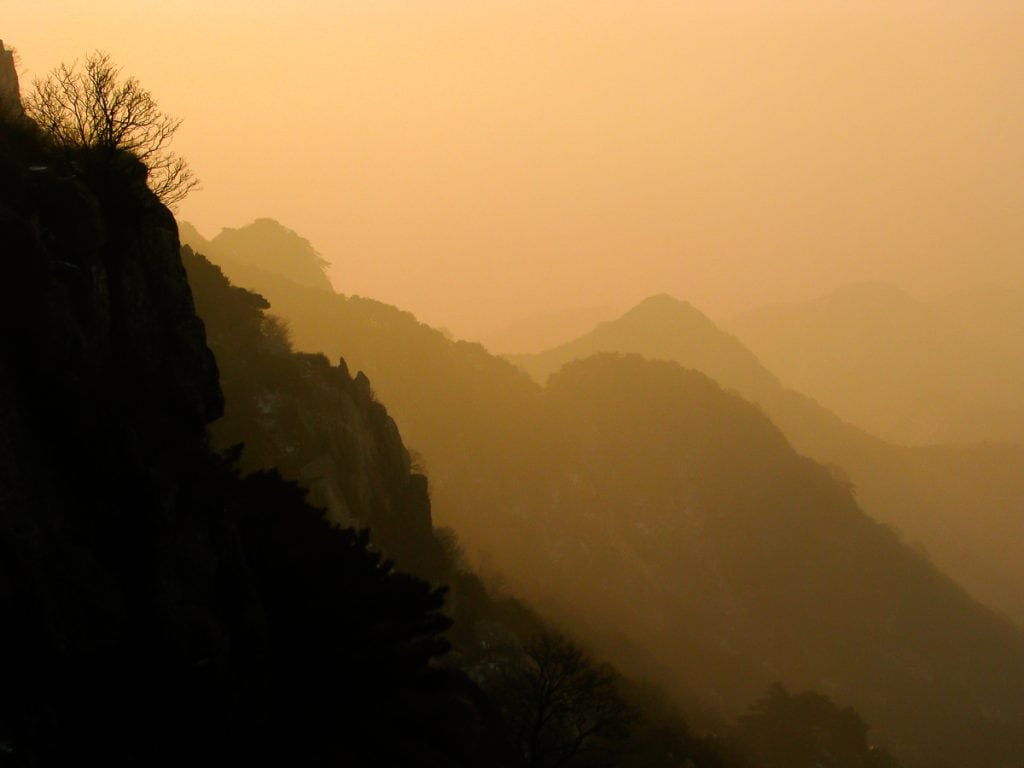 Sunset from Tai Shan (Tai Mountain)