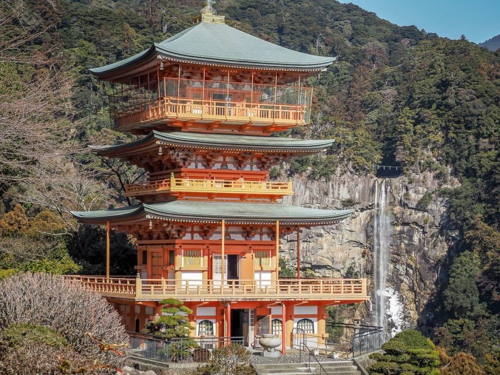 Kumano Nachi Taisha and Nachi-no-Taki, or Nachi Waterfall