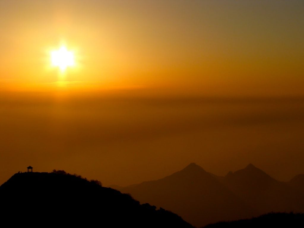 Mount Tai sunset