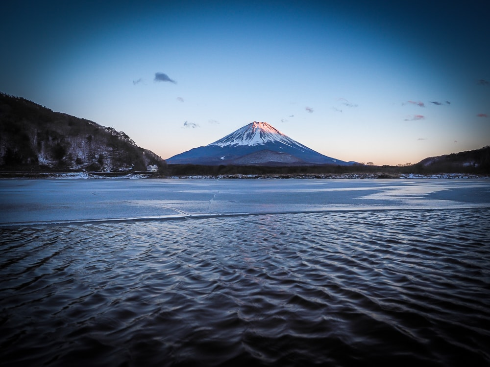 Lake Shoji, one of the best places to view Mt. Fuji