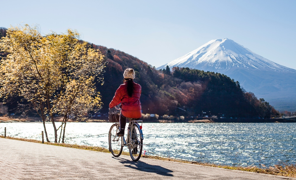 Cycling around Mount Fuji