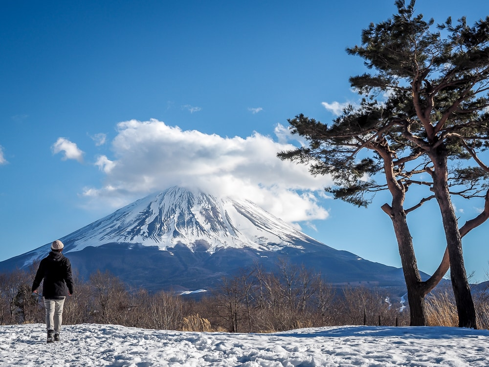 Sanko-Dai, offering one of the best views of Mt. Fuji