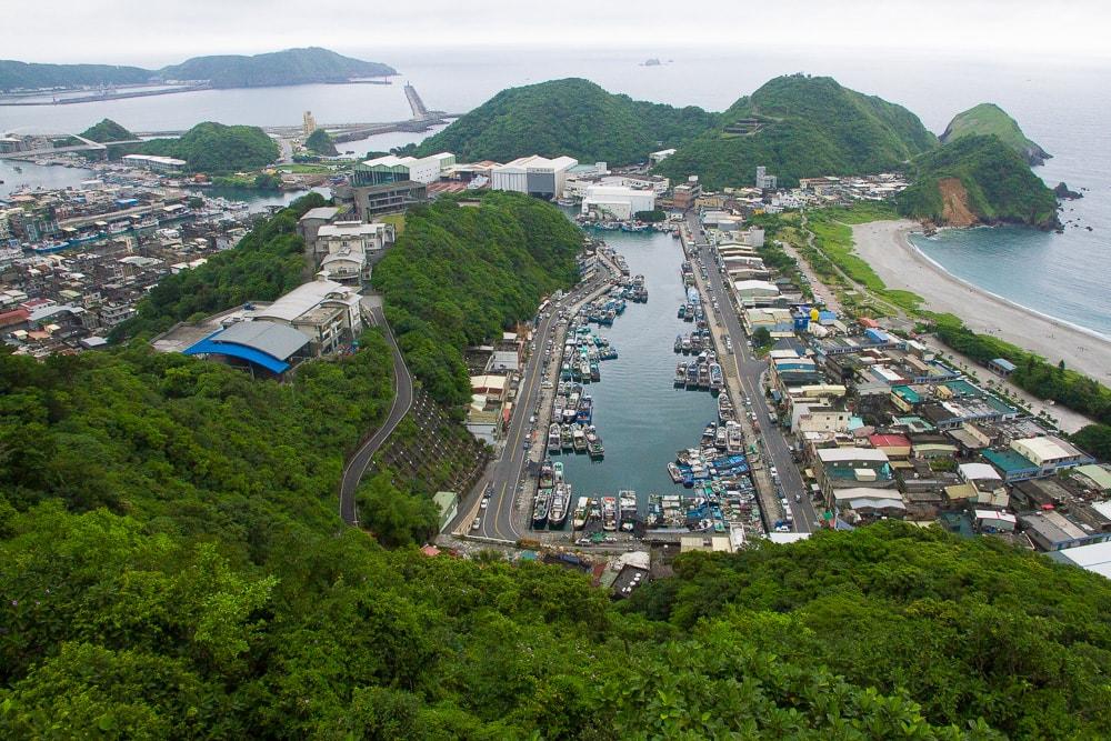 Nanfang Ao Harbor from above, Taiwan