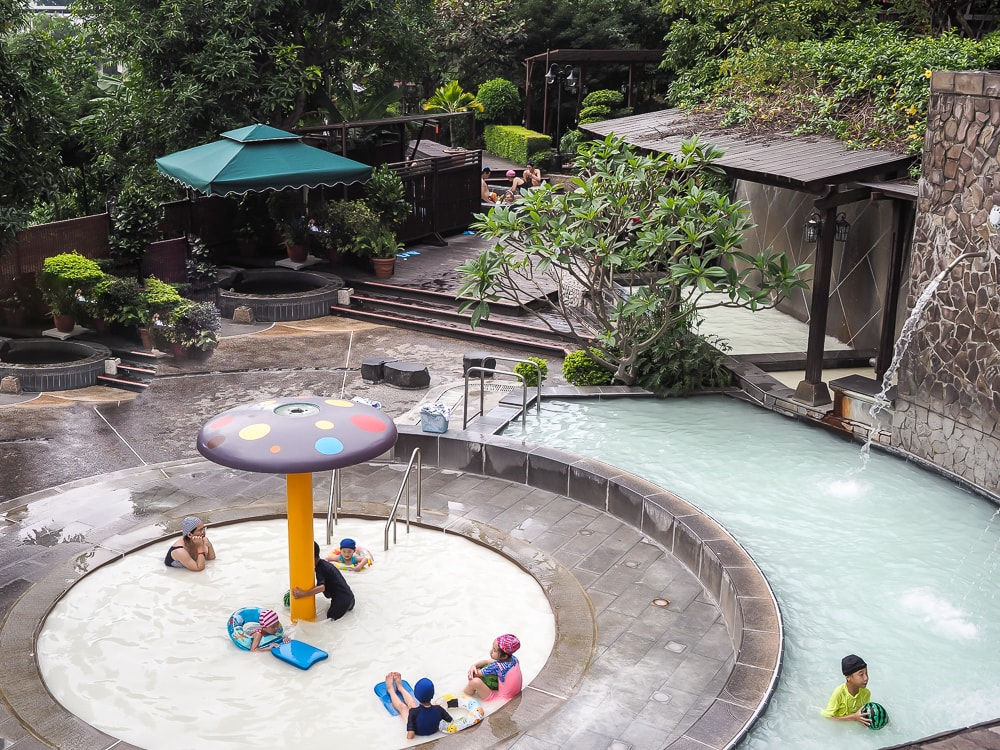 Cold pool at Beitou hot spring, one of the things to do in taipei in summer