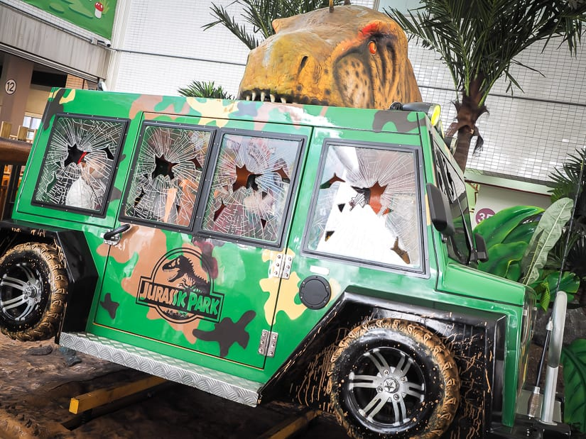 Jurassic Park ride at Children's Amusement Park Taipei
