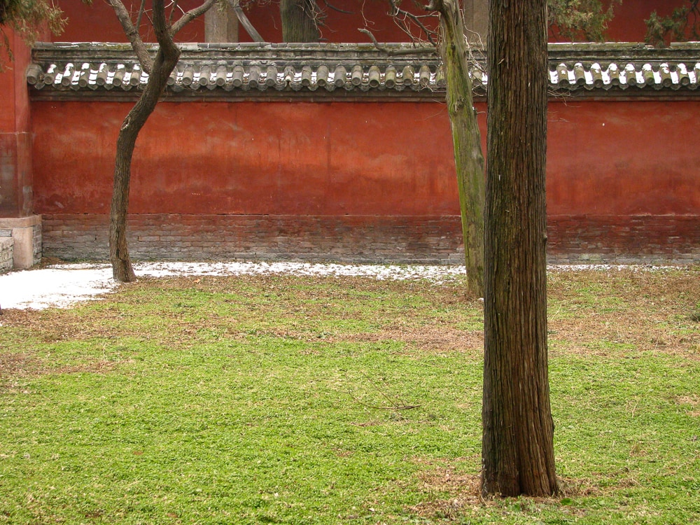 Courtyard in the Temple of Confucius, Qufu