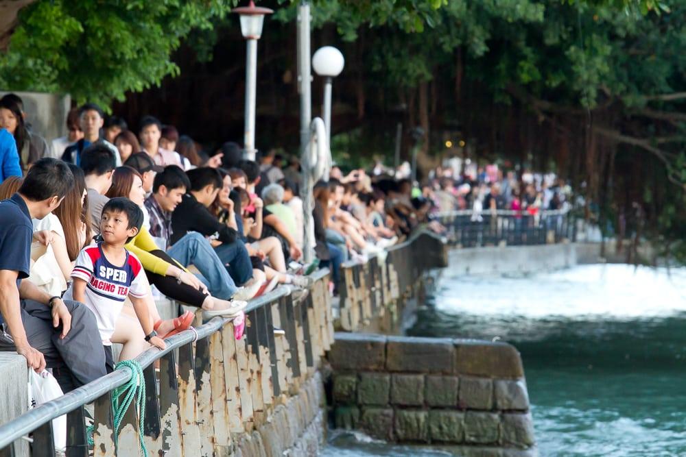Riverside promenade, Danshui, Taiwan