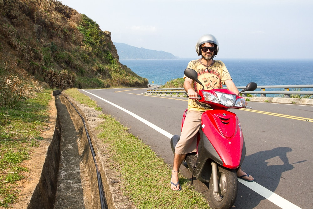 Riding a scooter downthe East coast of taiwan Hualien to Taitung