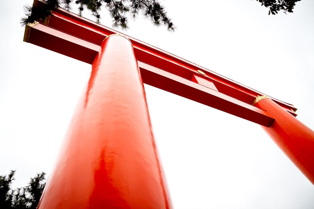 Enormous torii gate, Heian-jingu, Kyoto
