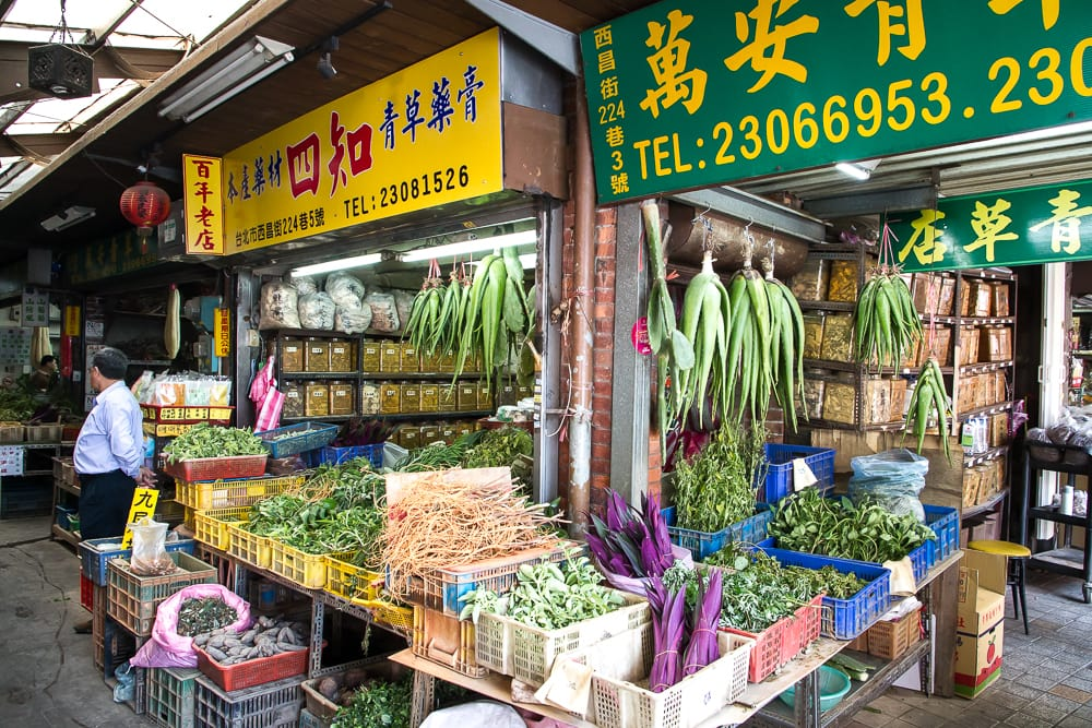 Herb alley, Longshan Temple