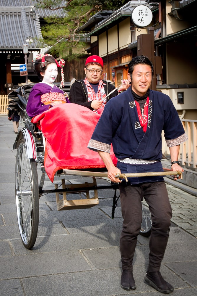 Human rickshaw in Kyoto, Japan