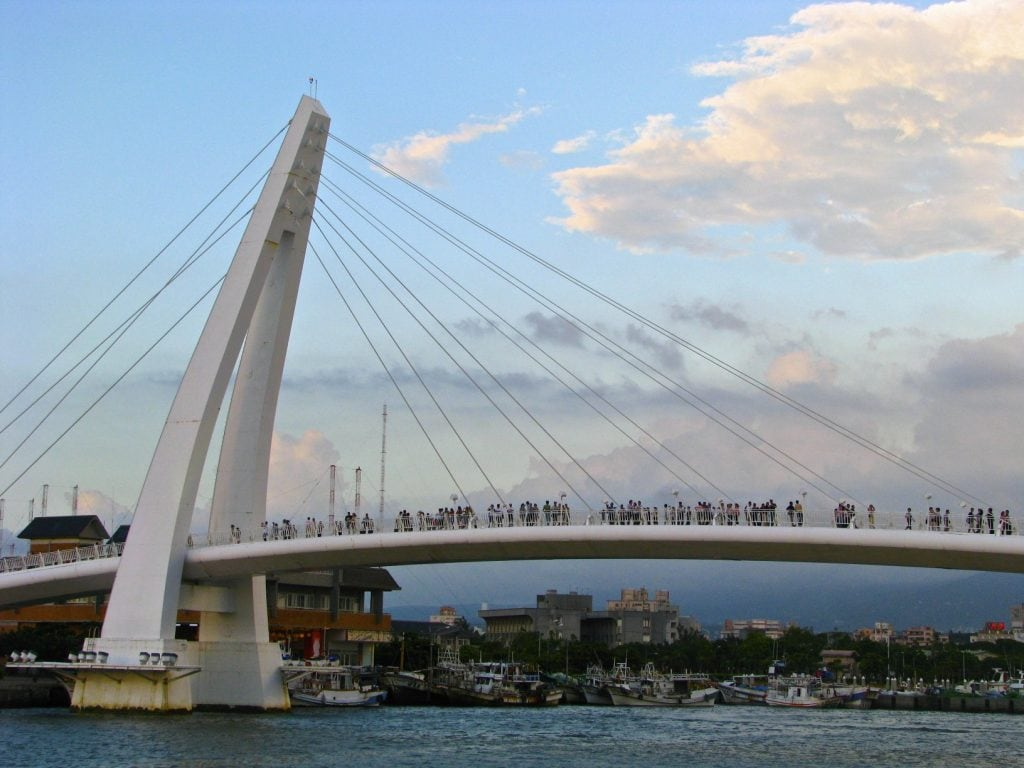 Lover's bridge, Fisherman's Wharf, Danshui, Taipei
