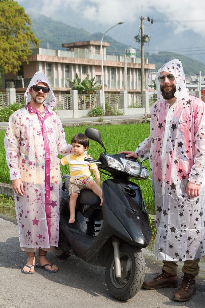 Riding scooters from Hualien to Taitung