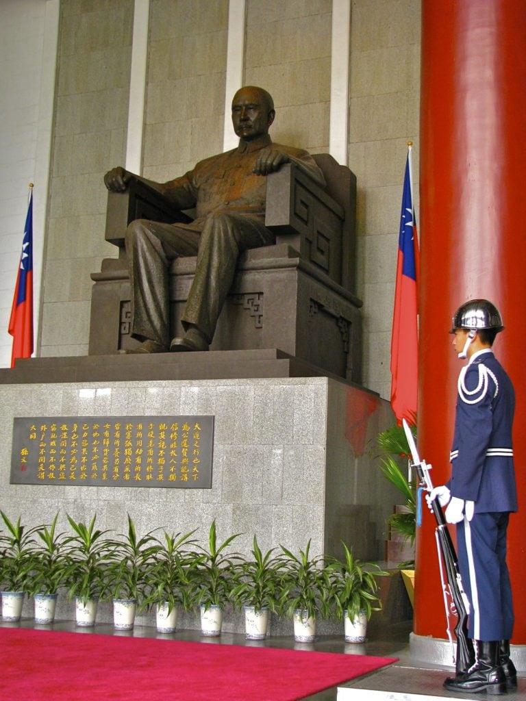Standing guard, Sun Yat-sen Memorial Hall, Taipei