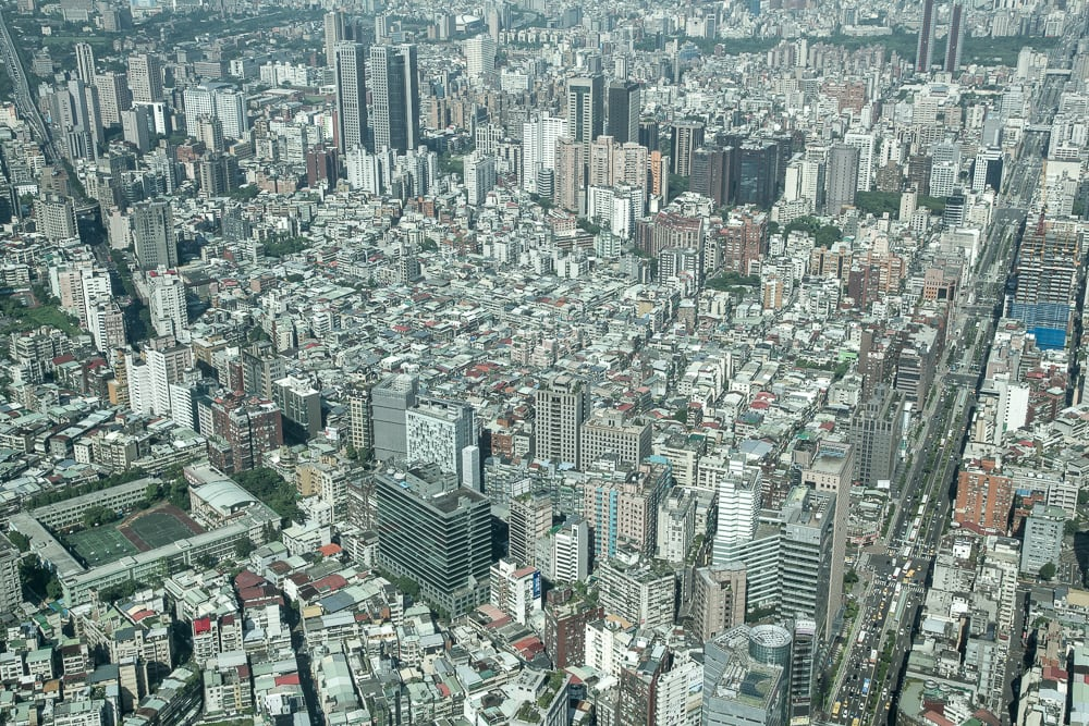Taipei City viewed from Taipei 101