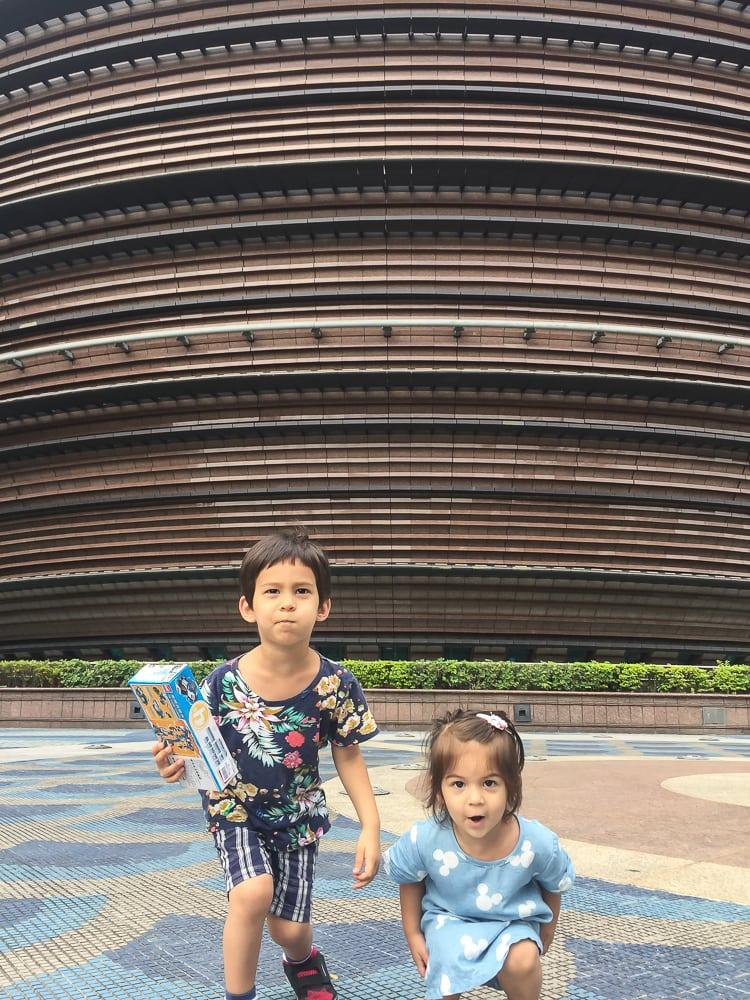 Ball shaped Core Pacific City Mall (the Living Mall), Taipei, Taiwan