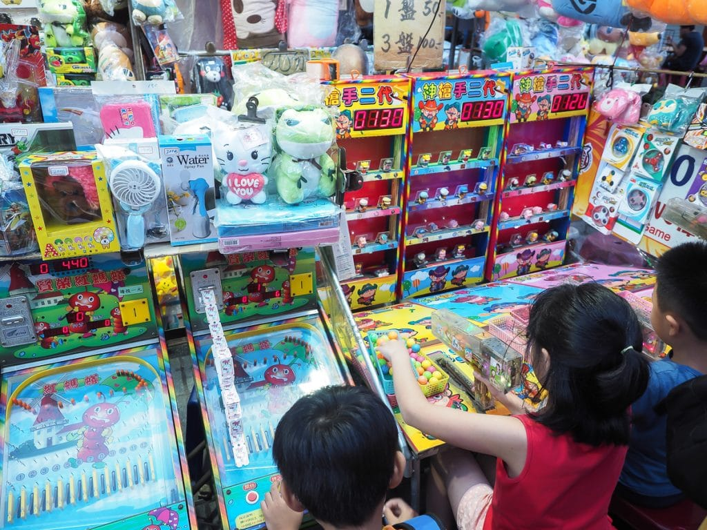 There are fun activities at Taipei night markets for kids, too. Just go early!