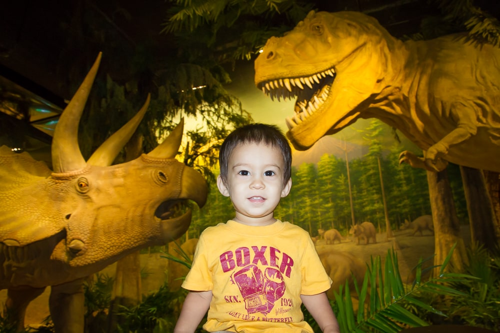The dinosaur museum at the Taipei Zoo, Muzha