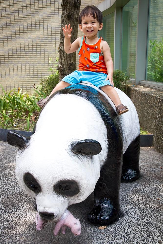 Panda exhibit, Taipei Zoo, Muzha