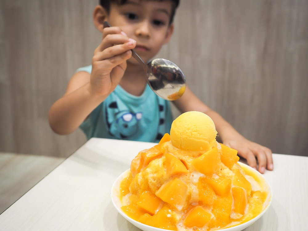 Yongkang street mango shaved ice, one of the best ways to beat the heat in Taipei in August