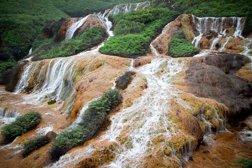 Jinguashi Golden Waterfall Taiwan
