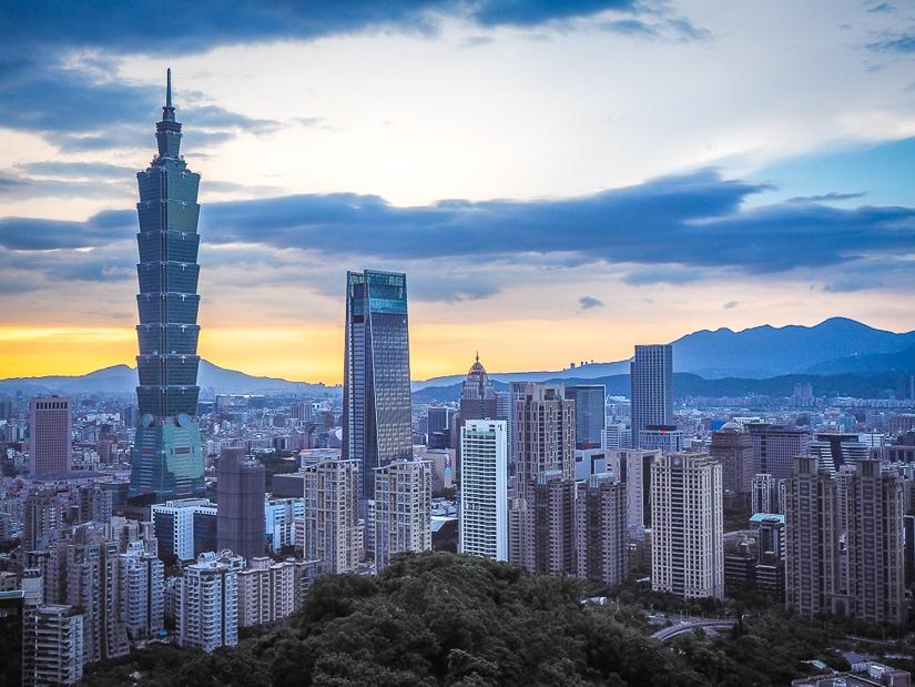 Taipei City viewed from Elephant Mountain