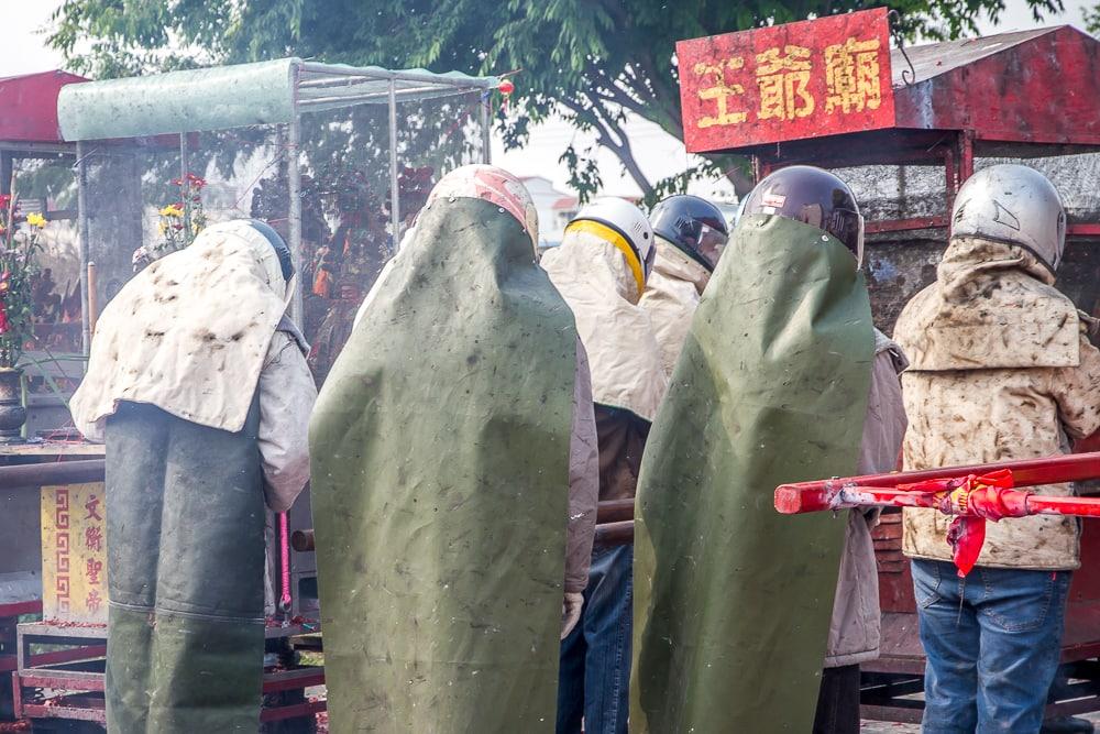 People who just got hit by rockets in Yanshui