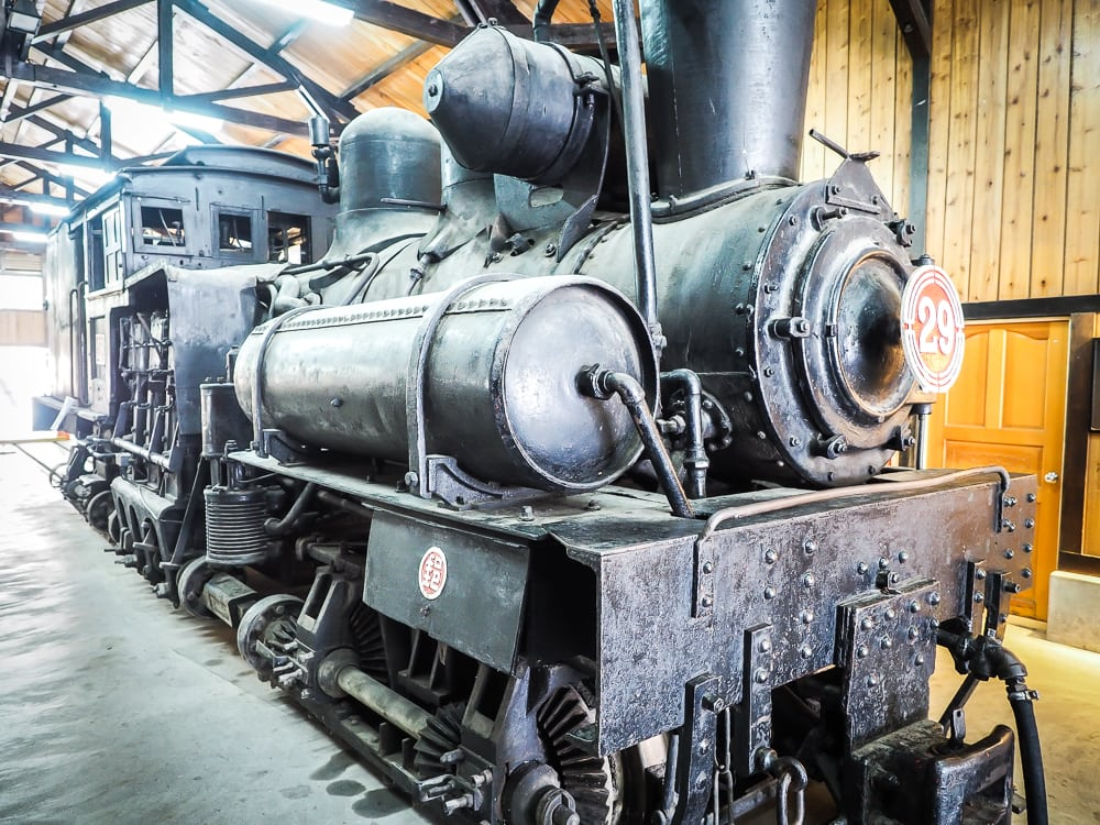 Original steam train from the Alishan Forest Railway