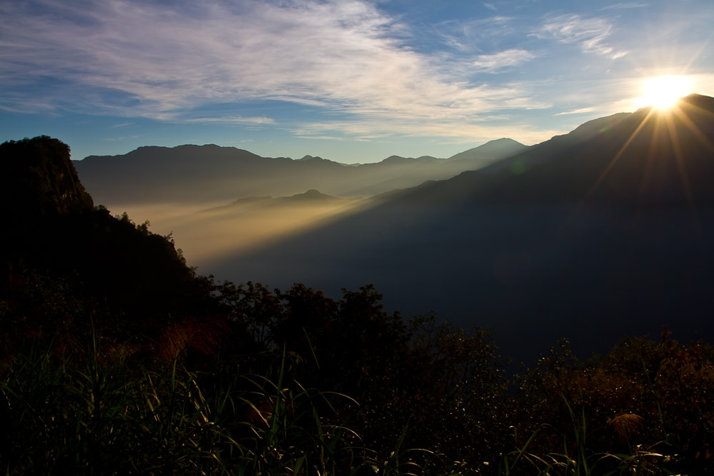 The best place to see the sunrise in Alishan, Taiwan