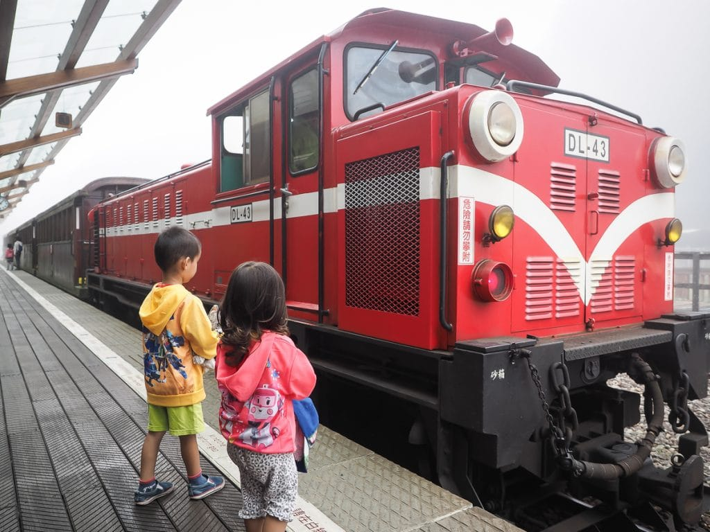 Riding the Alishan Forest Railway with kids