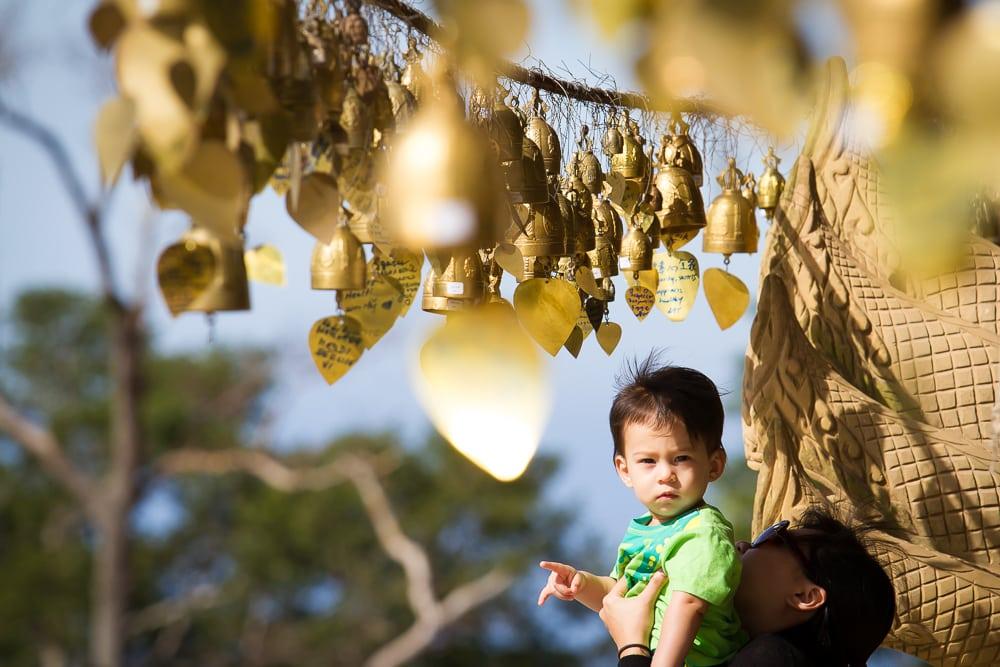 My son at the Big Buddha, Phuket
