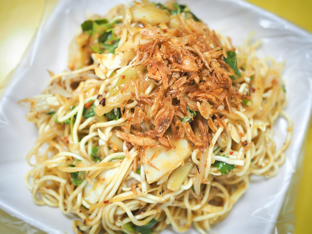 Burmese tossed cold noodles, a popular specialty on Taipei's Burma Street
