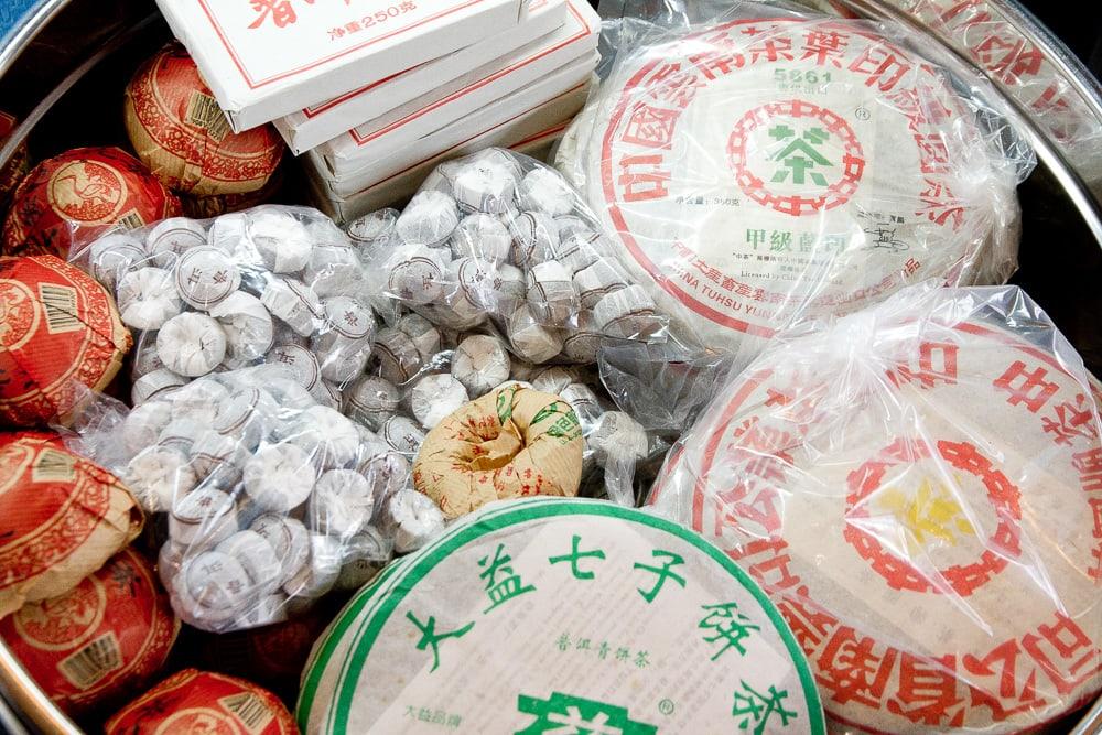 Puer (Pu-erh) tea cakes