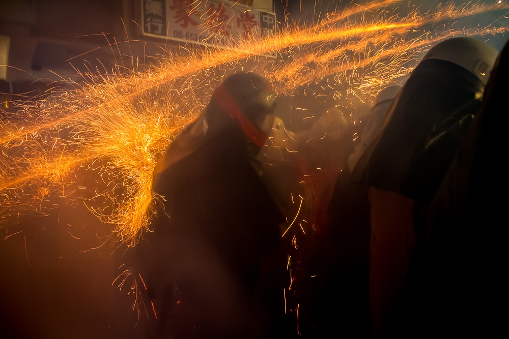Getting hit in head by rockets at Yanshui Fireworks Festival