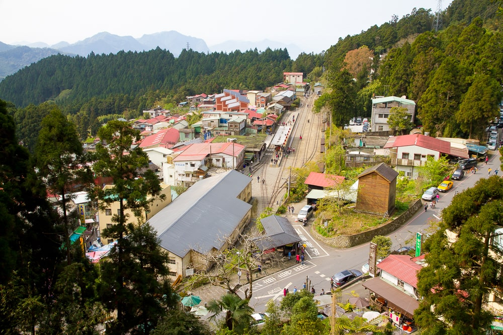 Fenqihu, a stop on the Alishan Forest Railway