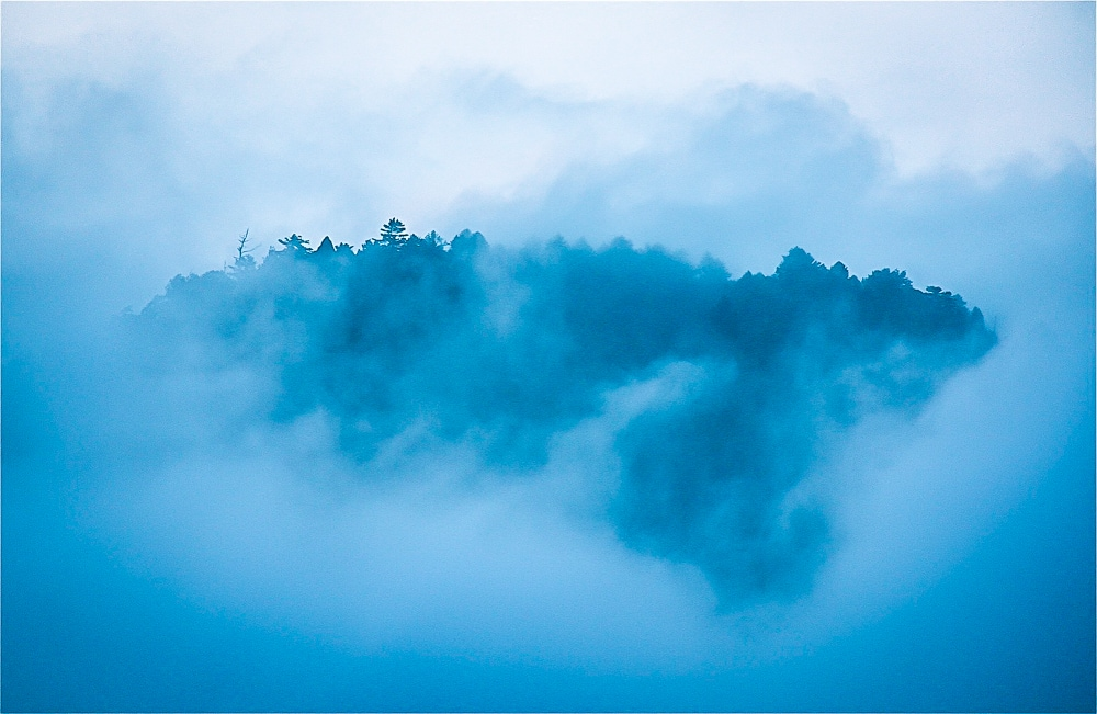 Foggy mountain in Taiwan