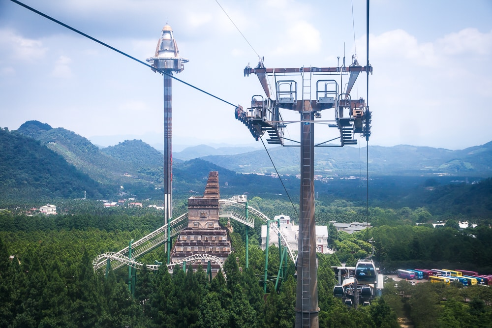 Sun Moon Lake Ropeway down to the Formosan Aboriginal Culture Village