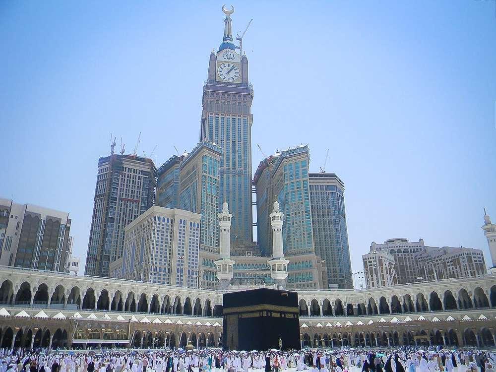 Kabaa in Mecca, end point of the Hajj, one of the most well known pilgrimages around the world