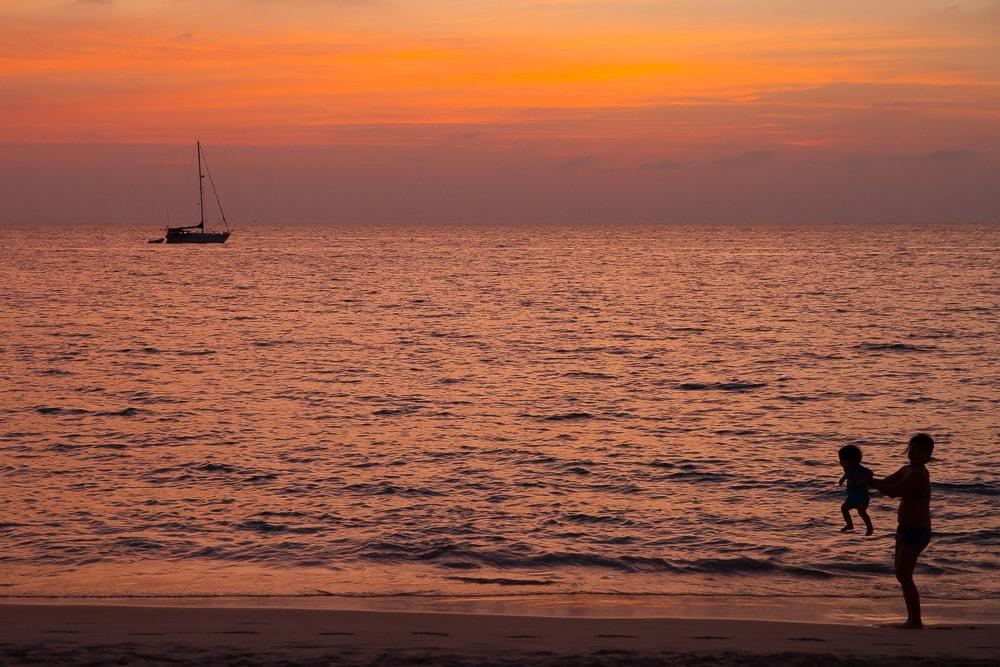 Amazing sunsets at Kata Noi, Phuket